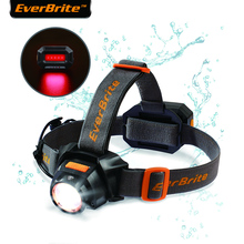 EverBrite Rechargeable Headlamp 3000 Lumen Zoomable Super Bright Headlight Water Resistant IPX4 10 Lighting Modes Head Torch