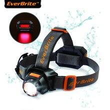 EverBrite Sạc Đèn Pha 3000 Lumen Phóng To Siêu Sáng Chống Nước IPX4 10 Chế Độ Chiếu Sáng Đầu Đèn Pin