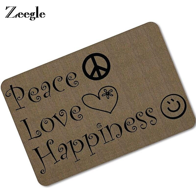 Zeegle Living Room Carpet Home Doormat Non slip Bathroom Floor Rugs Foot Mat Absorbent Kitchen Mat