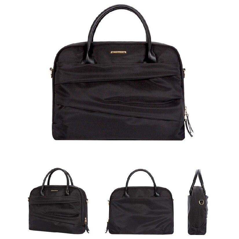 Marque Fasion femmes sacs pour ordinateur portable 13.3 14 pouces Nylon étanche pour macbook air 13 pouces sac pour ordinateur portable rose noir bleu 2019
