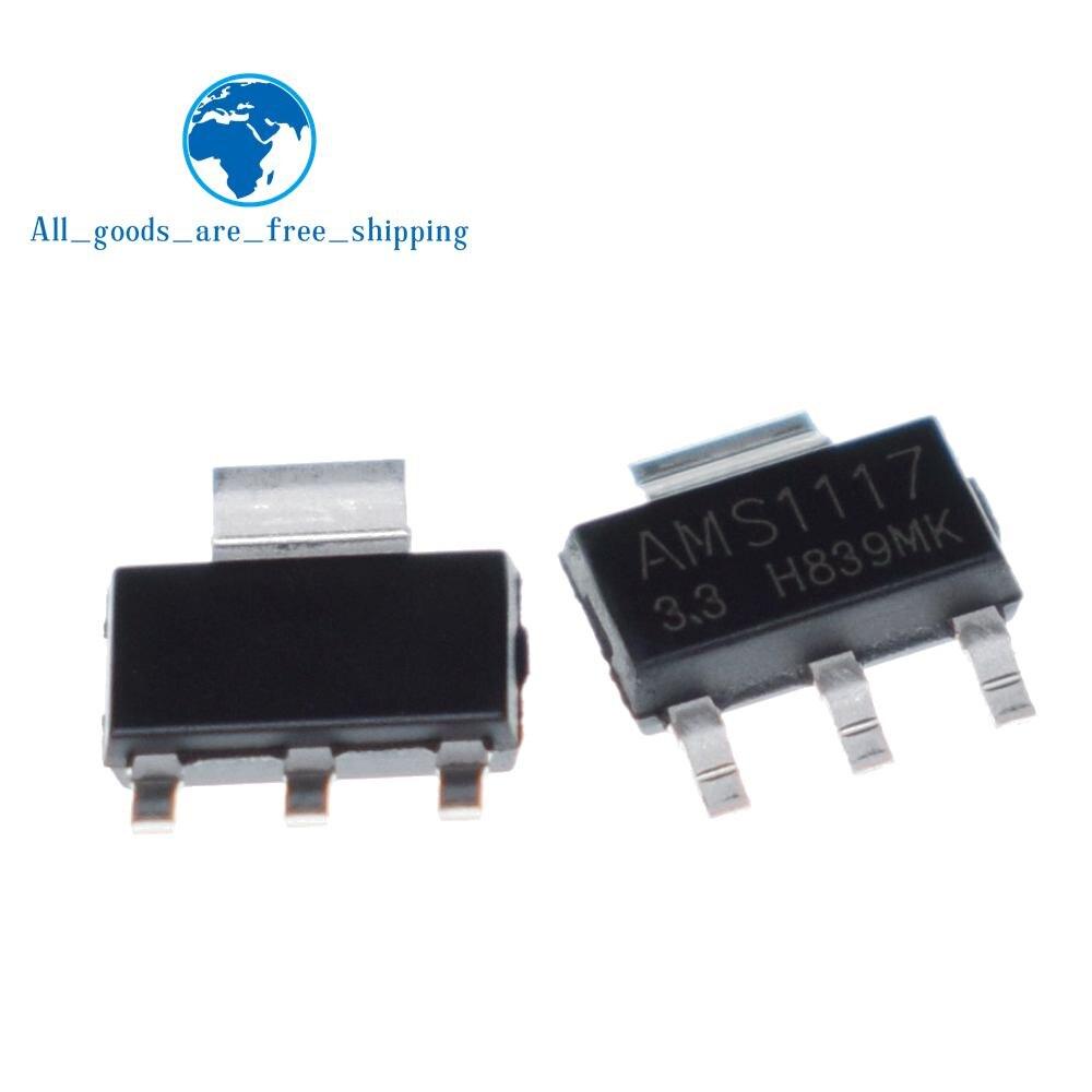 50PCS AMS1117 LM1117 5V 1A  SOT-223 Voltage Regulator BESTQuality AS