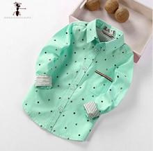 Рубашка для мальчиков Spring Autumn Polka