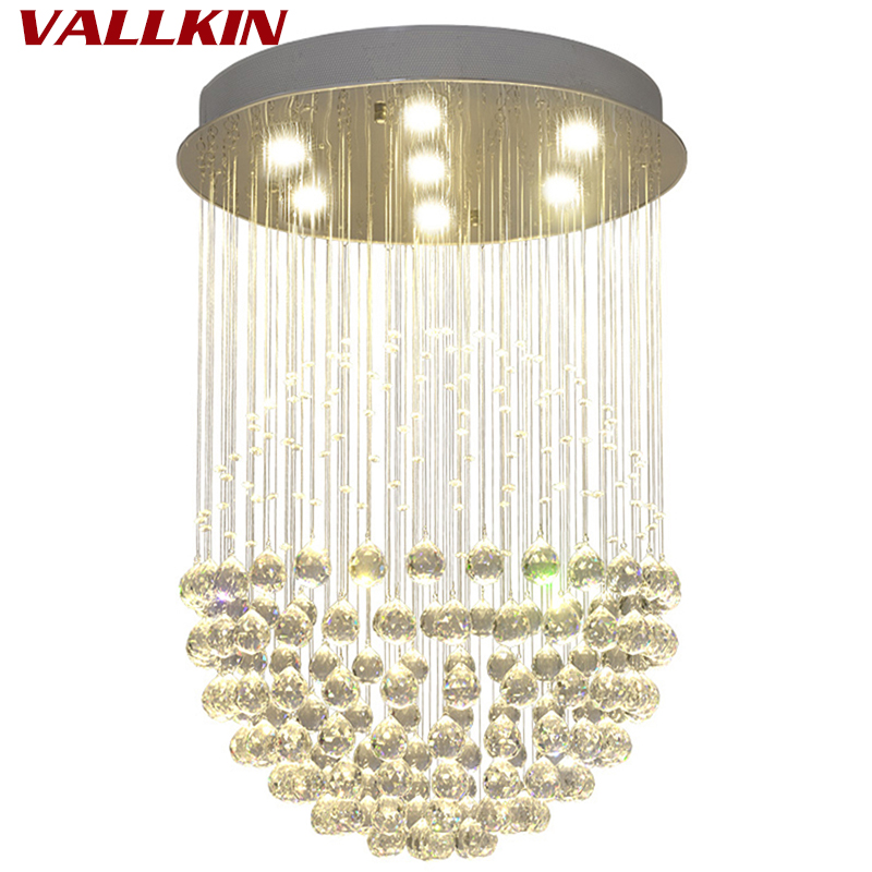 LED Round Chandelier Crystal Chandeliers Lighting Globular Luxury Design for Indoor Deco Dining Room Living Room Hotel Study Bar european crystal chandelier living room decoration home lighting luxury glass chandeliers hotel hanging lights indoor wall lamp