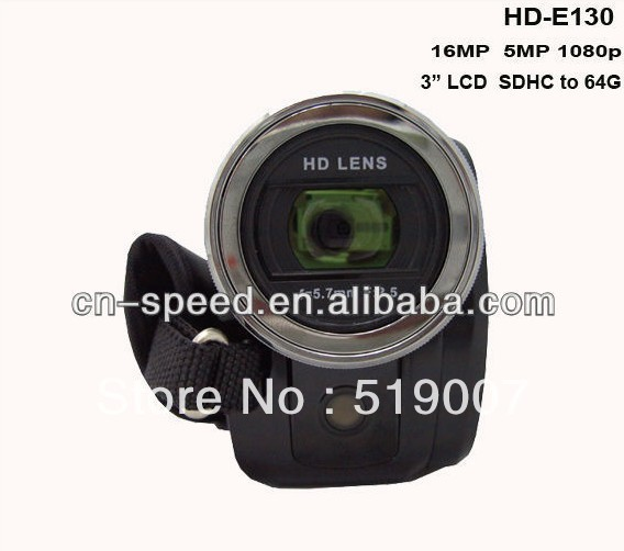 """Full HD 1080P 16MP 3"""" TFT LCD Touch ScreenDigital Video Camcorder Camera,16XZOOM, HD-130Z,With Russian language"""