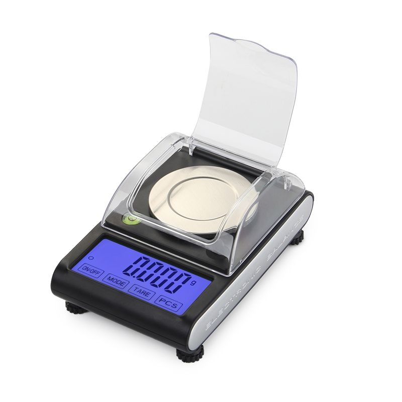 0.001g Precision Touch LCD Electronic Jewelry Scales 50g/0.001 Diamond Gold Germ Medicinal Pocket Digital Scale Weighing Balance newacalox 50g 0 001g portable mini jewelry scales lab weight high precision scale medicinal use lcd digital electronic balance