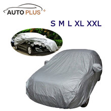 Full Car Cover Indoor Outdoor Sunscreen Heat Protection Dustproof Anti-UV Scratch-Resistant Sedan Universal Suit cheap Car Covers 632g KKMOON Dacron 1 5m 5 3m waterproof car cover