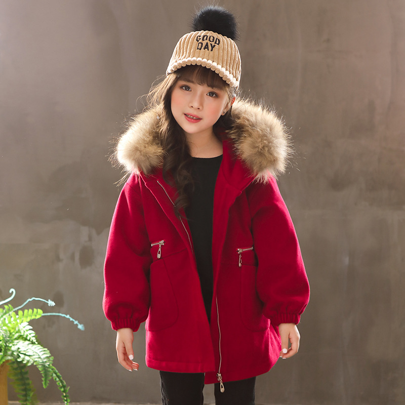 Girls Woolen Coat 2018 Winter New Style Kid Jacket Children Outfit Toddler Thickened Coat Baby Girl Jacket Outwear Hoodies,#3641 цена