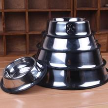 Pet Stainless Dog Bowl Pet Dog Cat Bowl,6 Sizes Trough Feeder For Dogs Watering Supplies, Mascotas Perros Food Water Feeder Dish