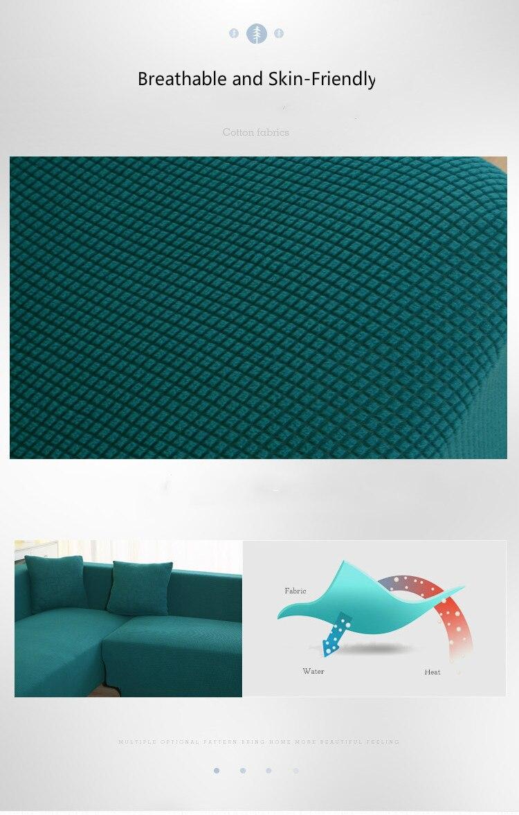 estar sólido secional capa de sofá elástico