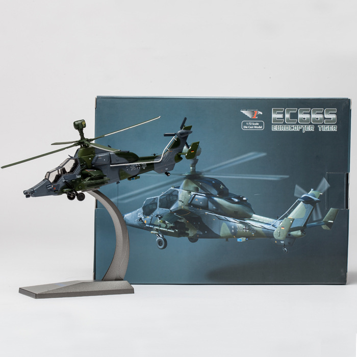 AF1 Alloy Simulation Helicopter Model EC665 Tiger Helicopter Model 1:72 fov print 84208 us apache longbow helicopter gunships 1 48 alloy model fm