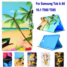 Fashion Cartoon Pattern Tablet PC Wallet Card Slot Case for Samsung Galaxy Tab A A6 10