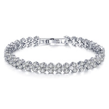 Shellhard Luxury Crystal Bracelet Fashion Sparkling Zircon Rhinestone Bangle & Bracelets For Women Femme Charm Jewelry Gift(China)