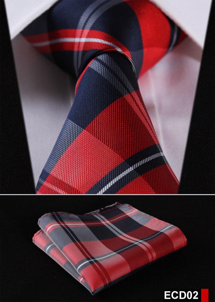 Men Tie Necktie Pocket Square Handkerchief Set Suit ECD01
