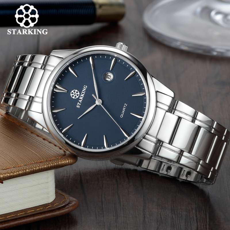 Starking Brand Men's Quartz Watch Imported Japan Movement Watch 316l Stainless Steel Auto Date Fashion Casual Men Watch BM0972 geeekthink top brand quartz watch men s fashion full stainless steel casual wrist watches imported movement waterproof date week