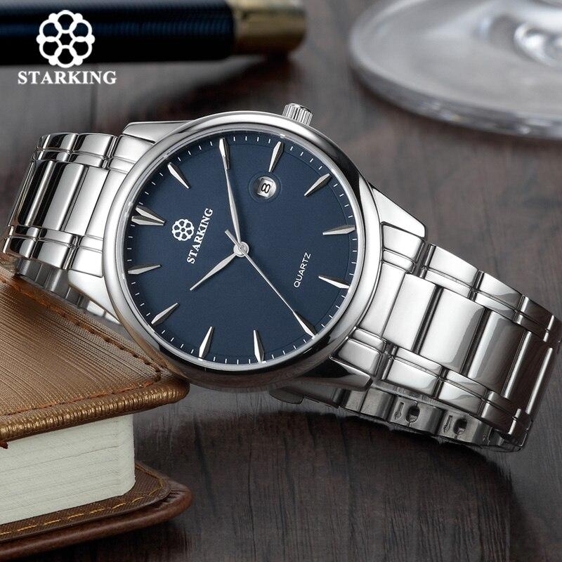 Starking Marque Hommes de montres à quartz Importés montre à mouvement japonais 316l acier inoxydable Auto Date De Mode montre décontractée pour homme BM0972