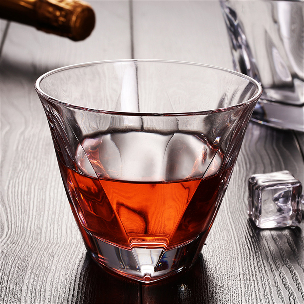 V-shape Whisky Glass Thicken Ultra Clear Like Crystal Wine Beer Brandy Drinking Home Bar Party Wedding Drinkware Perfect Gift