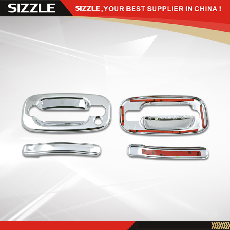 Door Handles Cover 2D No PSKH ABS Plastic Chrome Plating 2003 2004 2005 For Cadillac Escalade Accessories|door handle cover|handle cover|cover handle - title=