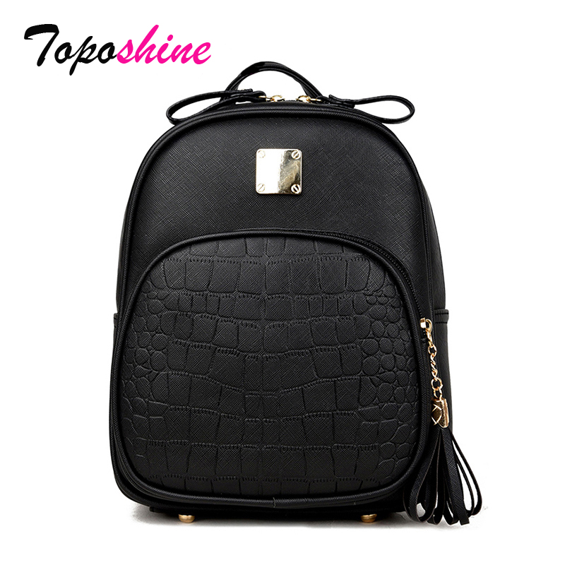Toposhine Women Backpack School-Bags Teenager Girls Preppy Fashion for Youngster Female-Style