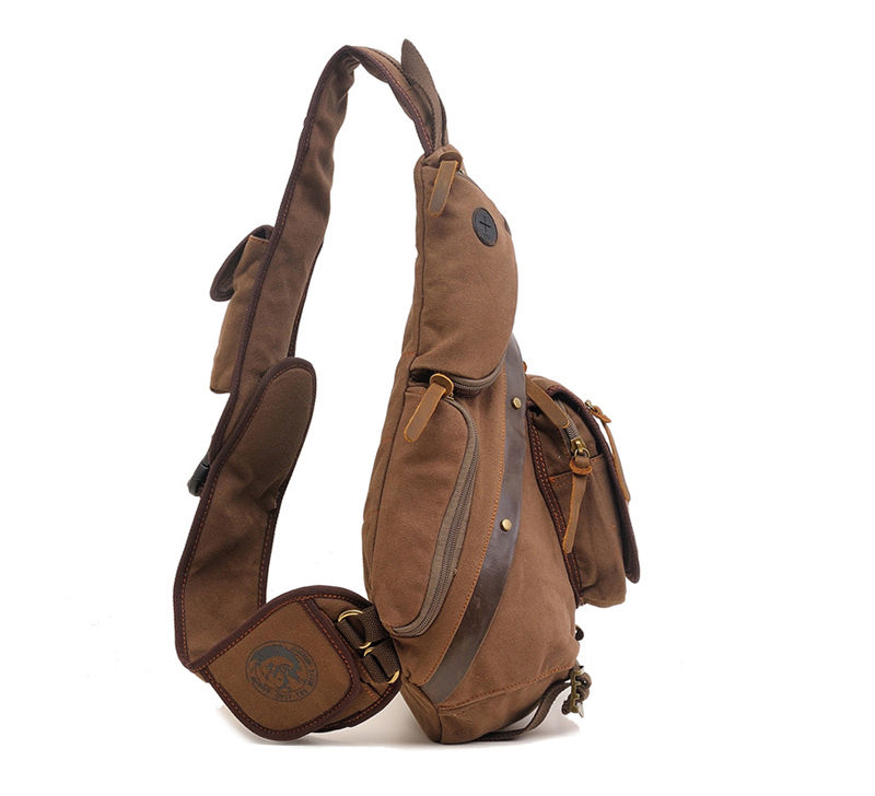 Aliexpress.com : Buy Men's Canvas Chest Pack Messenger Shoulder ...
