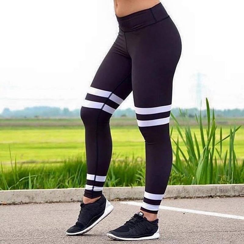 womens leggings High waist elastic leggings European and American new four - ring digital printing and buttock leggings