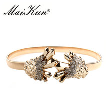 Maikun Thin Belts for Women Wedding Belt Luxury Golden Jeans Cinch Bling Shiny Decorated Rhinestones(China)