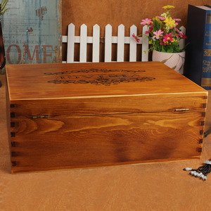 Image 5 - DESIRABLE 1 Pcs Solid wood Vintage Large Jewelry Box Keepsake Case Photo Letter beautiful Memories Retro Storage Boxes With Lock