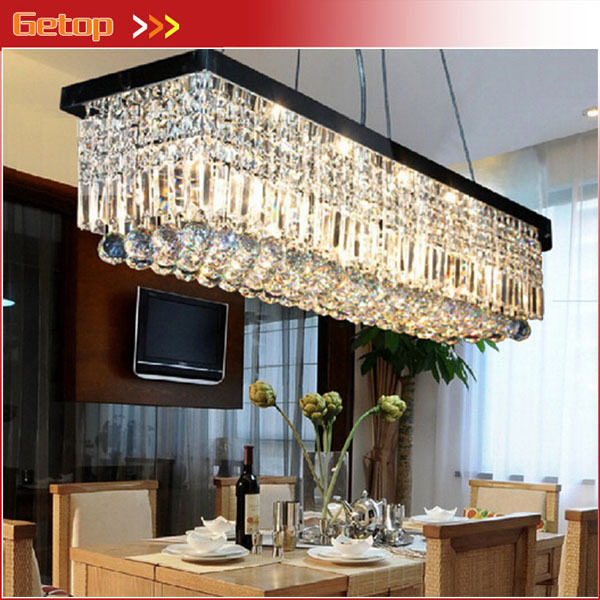 Modern New High Quality Crystal Chandeliers L39.5 X W10 X H10 Rectangle K9 Crystal Ceiling Lamp Fixture Modern LED Lighting 2014 high quality new inventions crystal magic mirror lightbox led