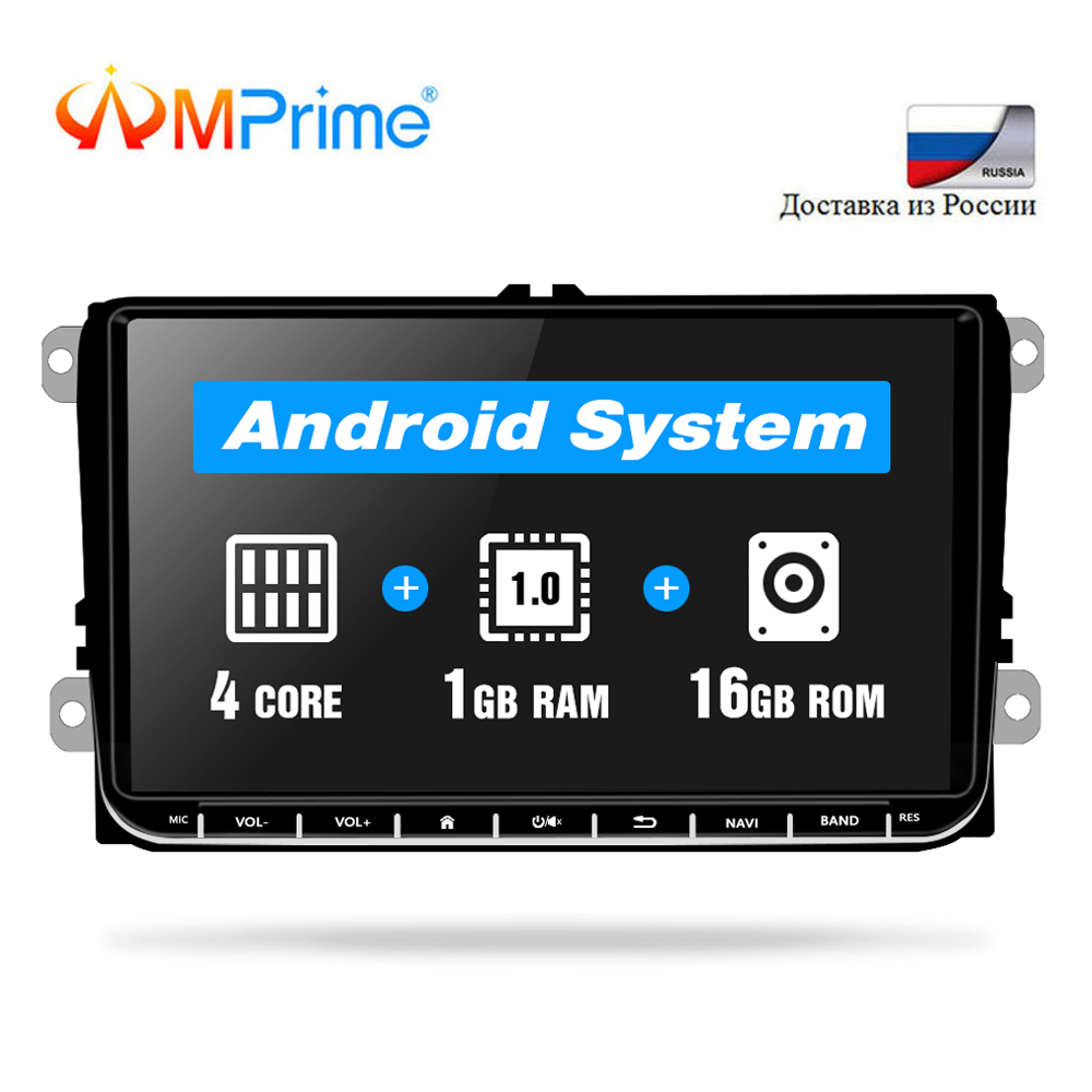 AMPrime 2 din Car Multimedia Player 7 Android Autoradio GPS Navigation Bluetooth Stereo Mirrorlink WiFi FM