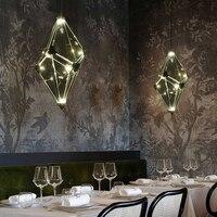 Post modern single headed glass diamond chandelier Scandinavian style bar dining room creative lamps and lanterns