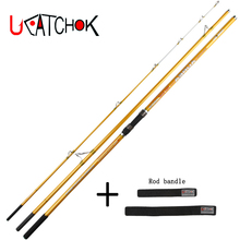 wholesale 2pcs/pack 4.2M Surf Rod Beach long casting 3sections far shot Fishing Carp Feeder Spinning