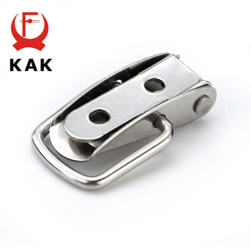 KAK J107 Hasp Lock Hardware Cabinet Boxes Spring Loaded Latch Catch Toggle 46*21 Steel Hasp For Sliding Door Hardware Window