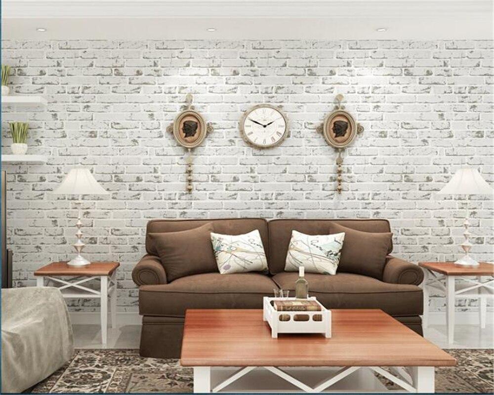 Beibehang moderne maison fond mur 3d papier peint Non-tissé brique papier peint plancher chambre salon mur 3d papier peint 10 m - 3