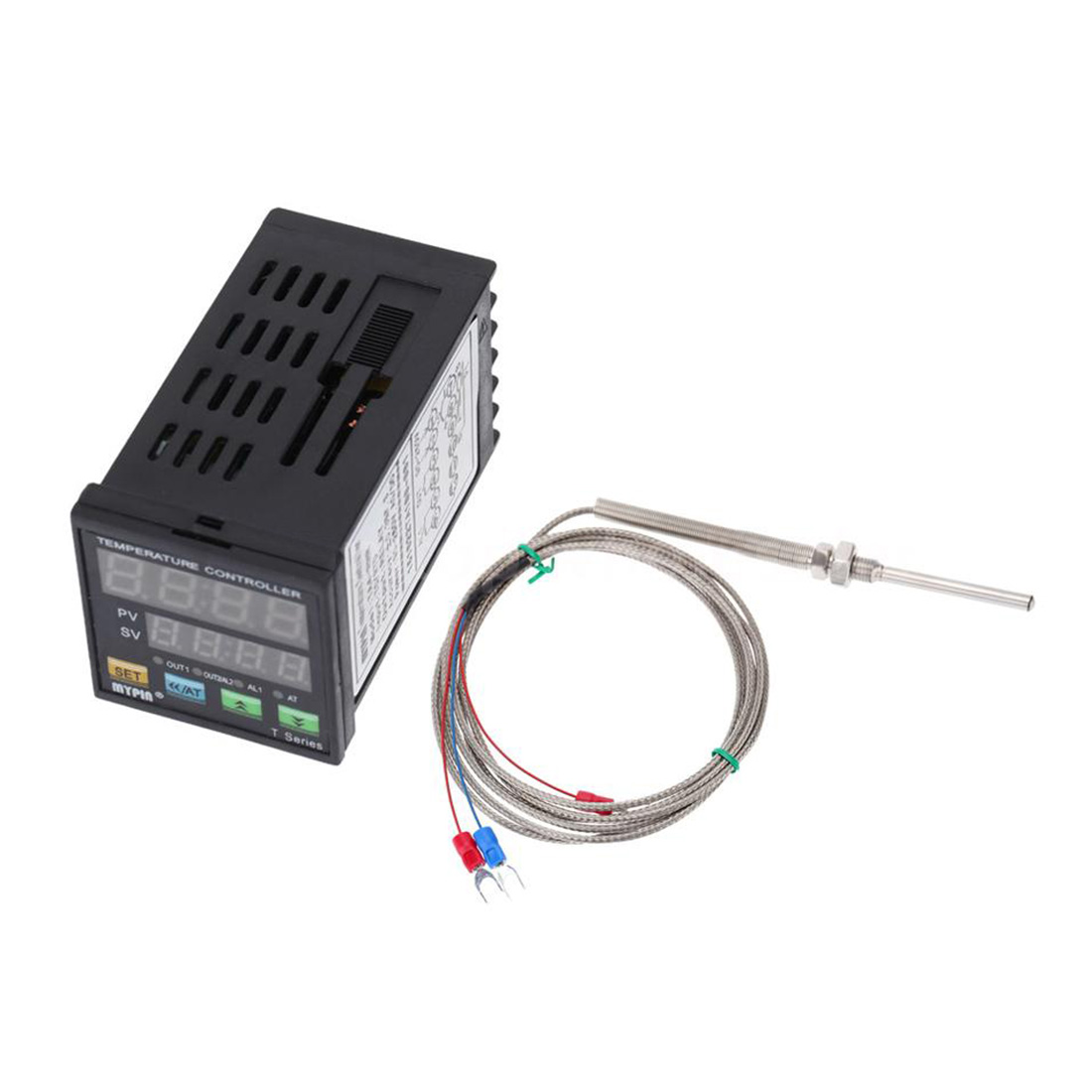 MYPIN Digital LED PID Temperature Controller + PT100 RTD Thermistor Sensor Probe 2pcs pt100 waterproof relay thermal probe temperature sensor temperature controller