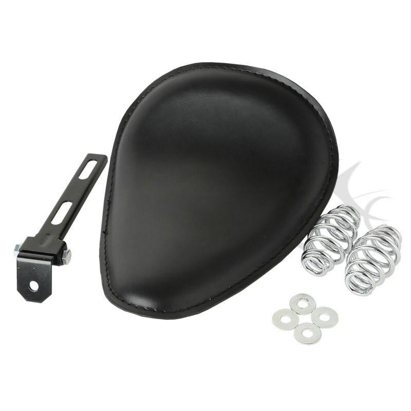 Universal Solo Seat W/ Spring Mounting Bracket Kit Fits For Harley Yamaha Honda Bobber Custom Chopper New Motorcycle