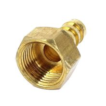 12mm Hose Barb 1/2BSP Female Thread Quick Joint Connector Adapter Gold
