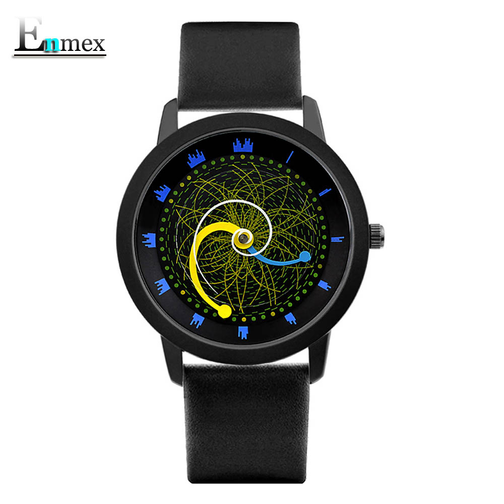 2017gift Enmex cool style wristwatch star orbital concept star vortex the story of the Starry sky  casual  quartz  fashion watch ladies gift new style watch enmex creative design good night starry sky simple brief face steel band quartz fashion wristwatch