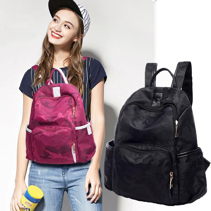 Women brand Women Waterproof Backpack Camouflage 2017 Famous Brands Student School Bags For Teenagers Designer