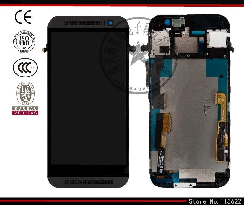 Pantalla lcd de pantalla para htc one m8 teléfono celular, (oro, blanco, negro,