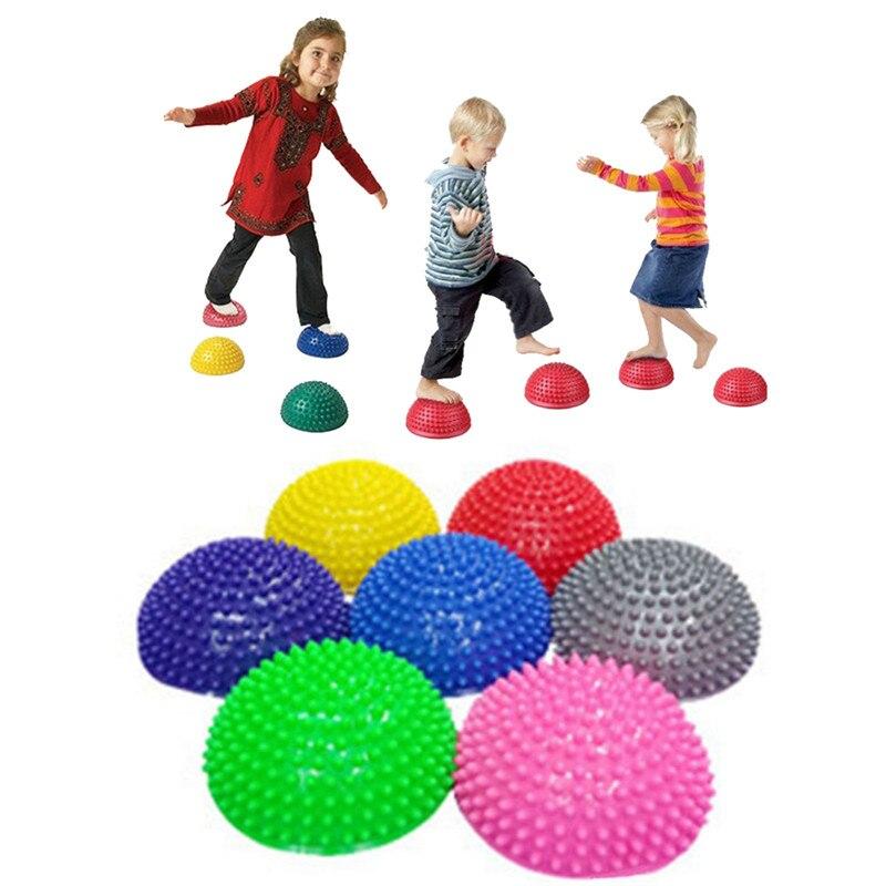 Children's Balance Training Ball Semi-spherical Massage Mat Equipment Outdoor Fitness Yoga Sport Play Durian Ball Kids Toys