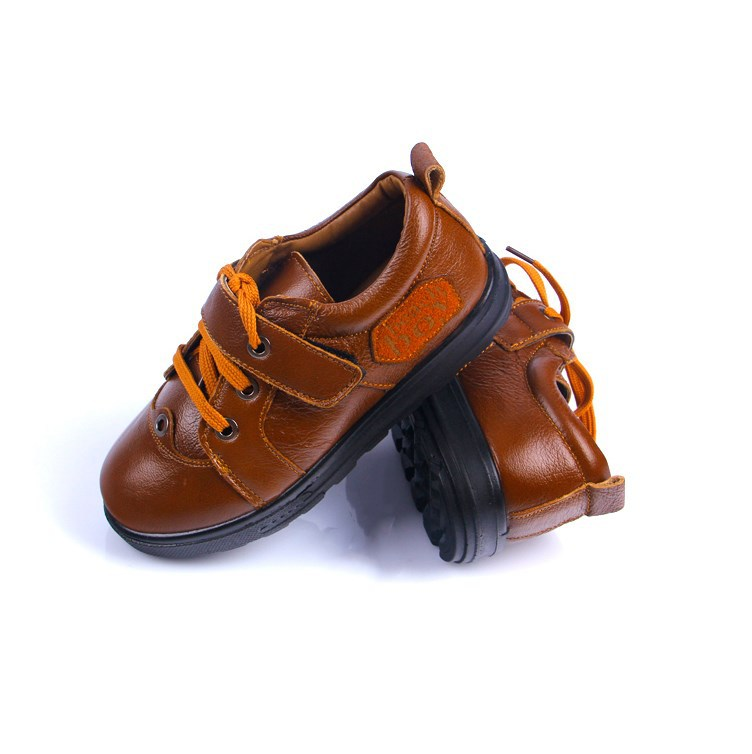 Children Shoes 2017 New Autumn And Winter Fashion Flats Boy Leather Shoes Lace Up Kids Sneakers Boy School Shoes Girl Loafer