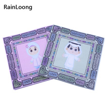[RainLoong] Boy & Girl Paper Napkins Cartoon Figure Print For Muslim Ramadan Decoration 33*33cm