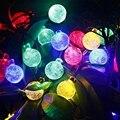 Lâmpadas de Iluminação Solar ao ar livre 4.8 M 20 LEDs luz Bola de Cristal Decoração Do Jardim Energia Solar LEVOU Luz Da Corda De Fadas Coloridas À Prova D' Água