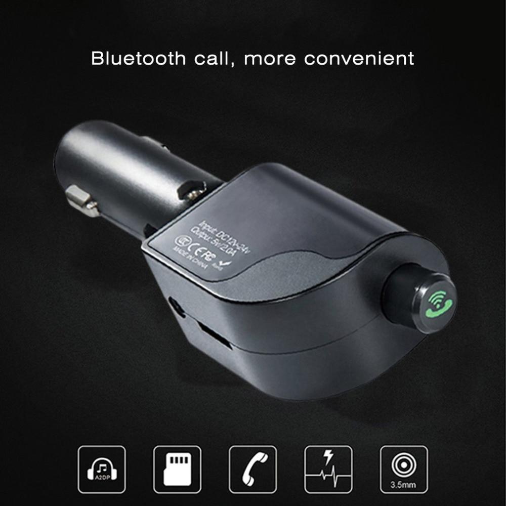 Car Hands Free font b Wireless b font Bluetooth FM Transmitter Dual USB Faster font b