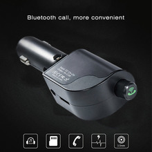 Car Hands Free Wireless Bluetooth FM Transmitter Dual USB Faster Charger 2.4A Car Kit MP3 Player Car Accessories
