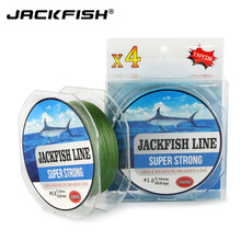 JACKFISH 300M 4 strand PE Braided Fishing Line 10-80LB Multifilament PE Fishing Line With package Carp Fishing Saltwater