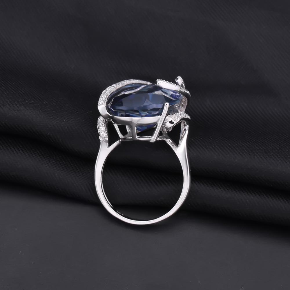 GEM'S balet naturalne Iolite Blue Mystic zegarek kwarcowy moda biżuteria ustawia 925 srebro kolczyki Ring Set dla kobiet w porządku biżuteria w Zestawy biżuterii od Biżuteria i akcesoria na  Grupa 3