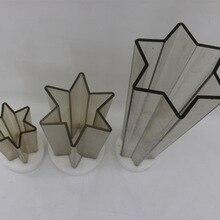CHUANGGE, Шестигранная звезда, форма для свечей, сделай сам, изготовление свечей, изготовленная из поликарбоната, декоративная свеча, силиконовая форма