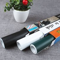 Removable Pvc Blackboard Graffiti Wall Sticker Adehesive Writing Paper Thick Rewritable With Board Sticker Chalk