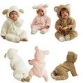 Roupas de bebê recém-nascido bebê dos desenhos animados quentes macacão de bebê de manga comprida bebê roupas de inverno do bebê traje para menina