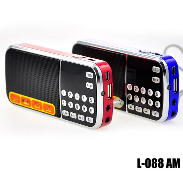 Горячие Продажи L-088 AM Fm-радио Dual Band Аккумуляторная Цифровой AM FM радио с USB Порт TF Карта Micro Sd Слот Портативный Мини-Радио